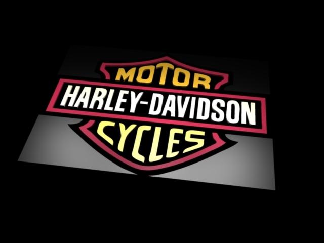 Harley Davidson Logo AutoCAD 3D CAD model GrabCAD