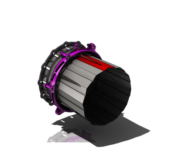 RC Jet Engine Variable Nozzle section for Jet CAT P160 | 3D