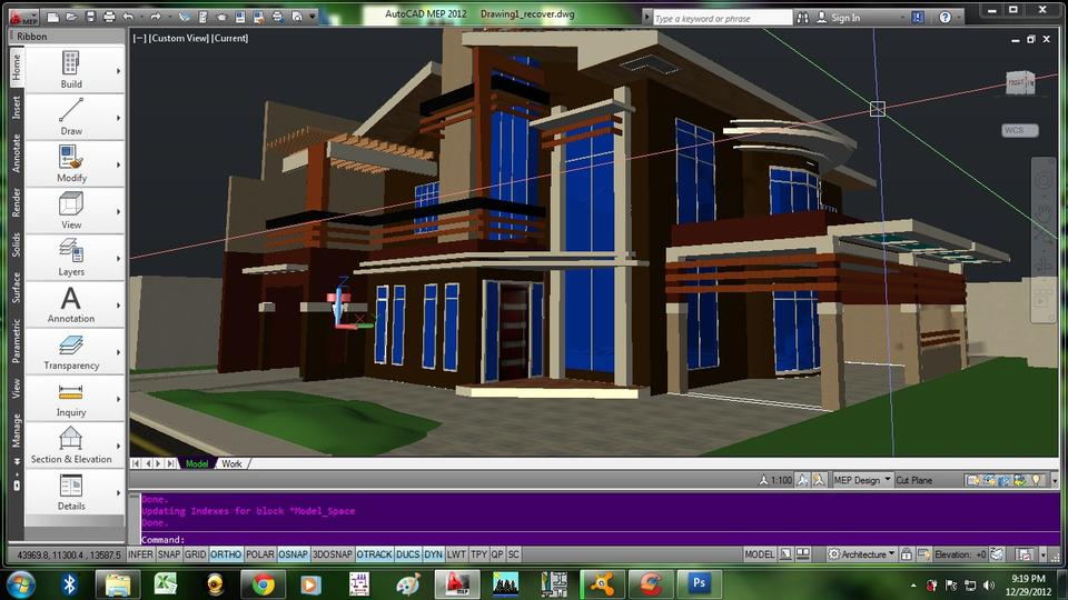 Proposed 2 Storey Residential House Autocad 3d Cad