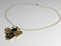 Bee Pendant and Chain