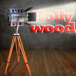 Vintage Hollywood spotlight