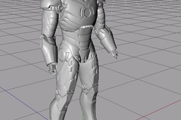 Iron Man MK 3 suit 3D scan