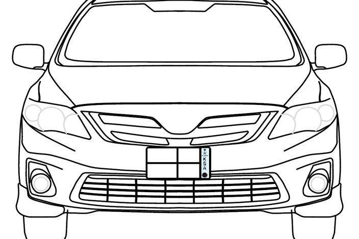 free coloring pages of toyota corolla
