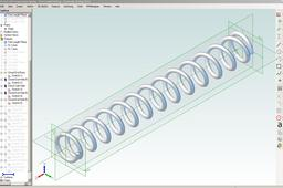 Closed & Not Ground End Spring Design for Geomagic Design