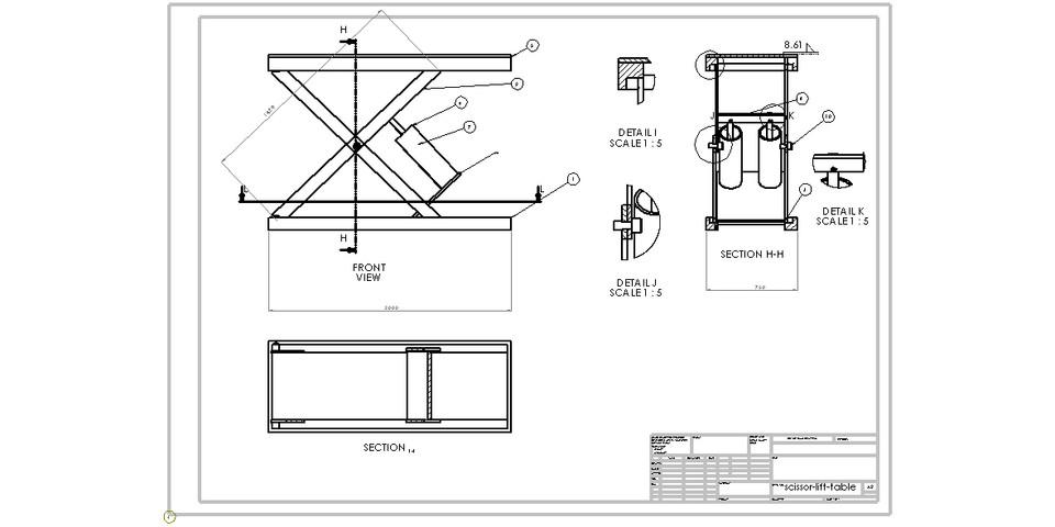 scissor lift table | 3D CAD Model Library | GrabCAD