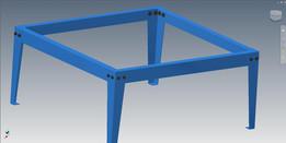 shop table- sheet metal frame