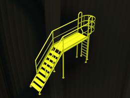 Escalera pasa caños