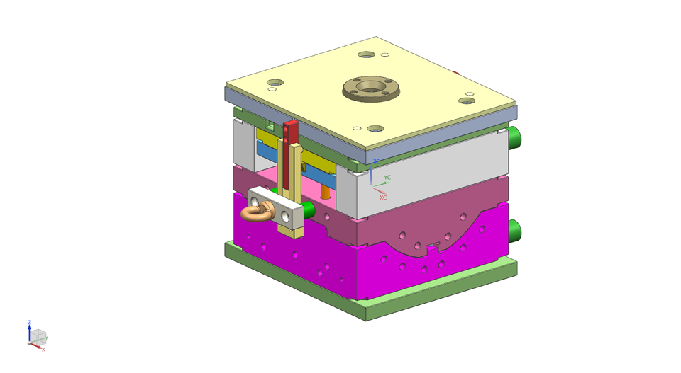 Reverse Injection Mold Design | 3D CAD Model Library | GrabCAD