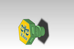 one of five parts creating Beyblade Libra - screw