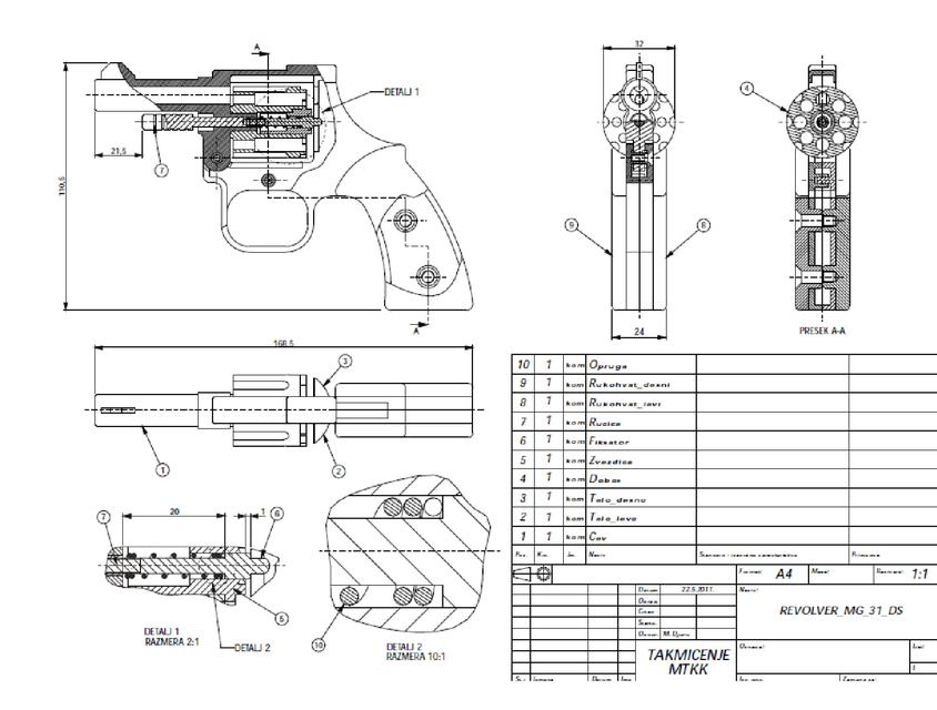 Revolver Drawings 3d Cad Model Library Grabcad