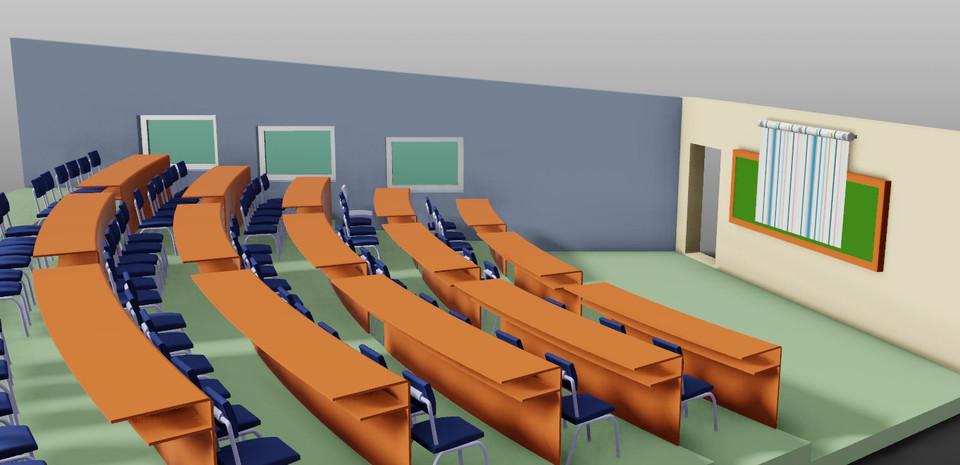 Classroom Designer 3d ~ Design of smart classroom d cad model library grabcad