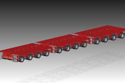 Hydraulic Axle Module Carrier Platform SolidEdge