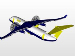 Proton-Turboliner Experimental airplane