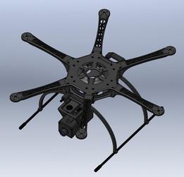 3D Printable Hexrotor Drone