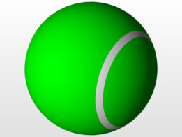 Tennis Ball Designed in Solidworks