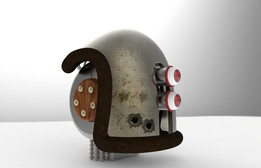 Plasma Gun and Steampunk Robot Head