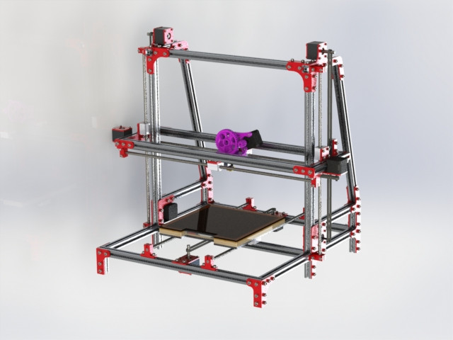 3d Printer Solidworks Autocad 3d Cad Model Grabcad