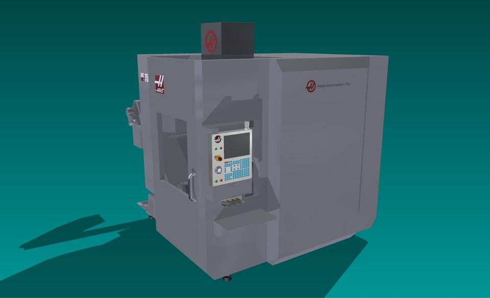 Haas UMC-750 for Machine Simulation | 3D CAD Model
