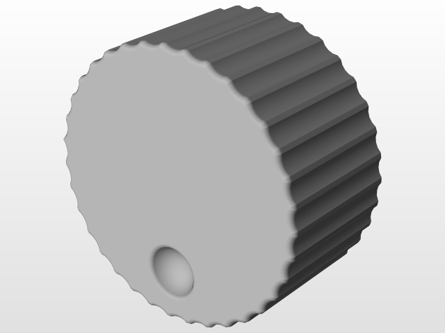 VFO Knob | 3D CAD Model Library | GrabCAD