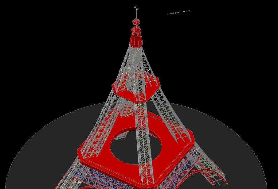 The eiffel tower la tour eiffel autocad 3d cad model grabcad - Dimension de la tour eiffel ...