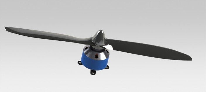 RC Motor and Propeller