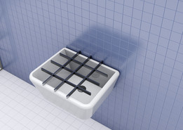 washbasin whit grill-simplified