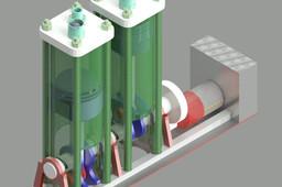 Bi Cylinder ventilator pump