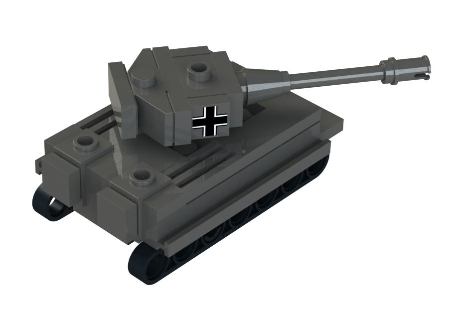Lego Mini Tiger 1 Tank   3D CAD Model Library   GrabCAD