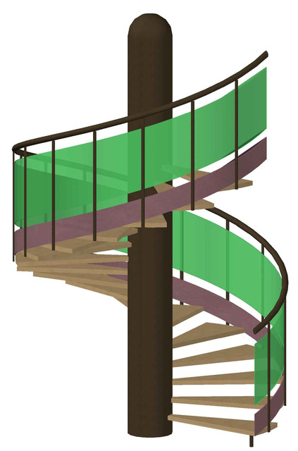 New Round Stairs And Spiral Staircase 3D | 3D CAD Model