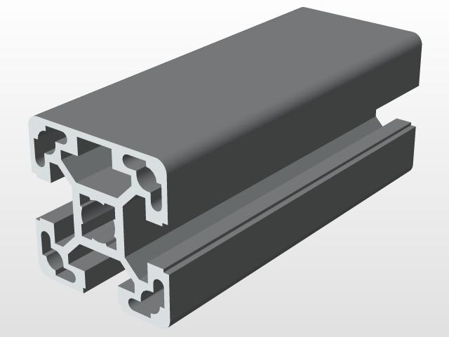 40X40 3N BR ALUMINIUM PROFILE | 3D CAD Model Library | GrabCAD