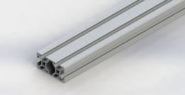 80/20 20mm double aluminum extrusion 20-2040