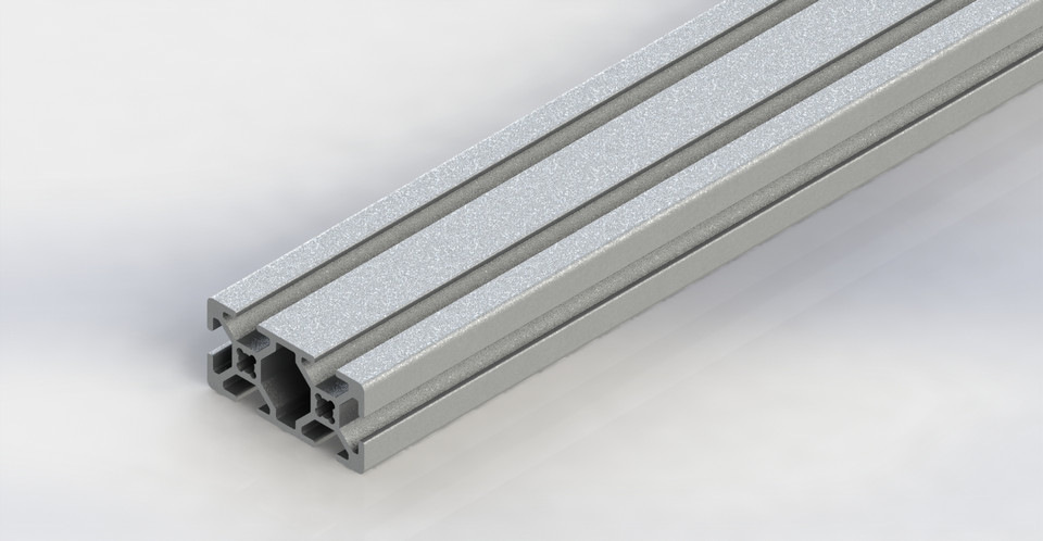 80/20 20mm double aluminum extrusion 20-2040 | 3D CAD Model