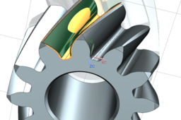 Helical gear model with correct tooth root geometry