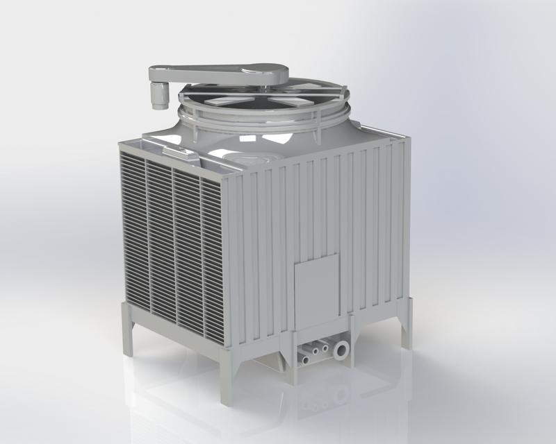 Amcot Lrc H 150 Cooling Tower 3d Cad Model Library Grabcad