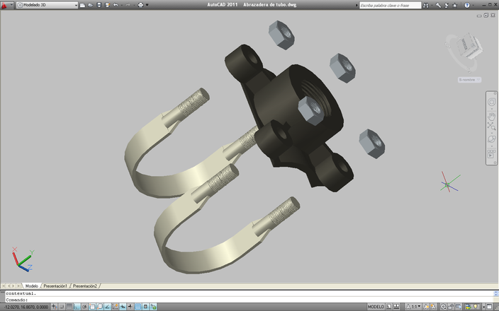 Abrazadera para tubo autocad 3d cad model grabcad - Abrazaderas para tubos ...