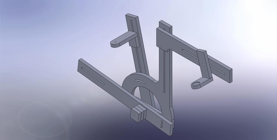 Bicycle Frame Jig Mdf Stl Solidworks 3d Cad Model Grabcad