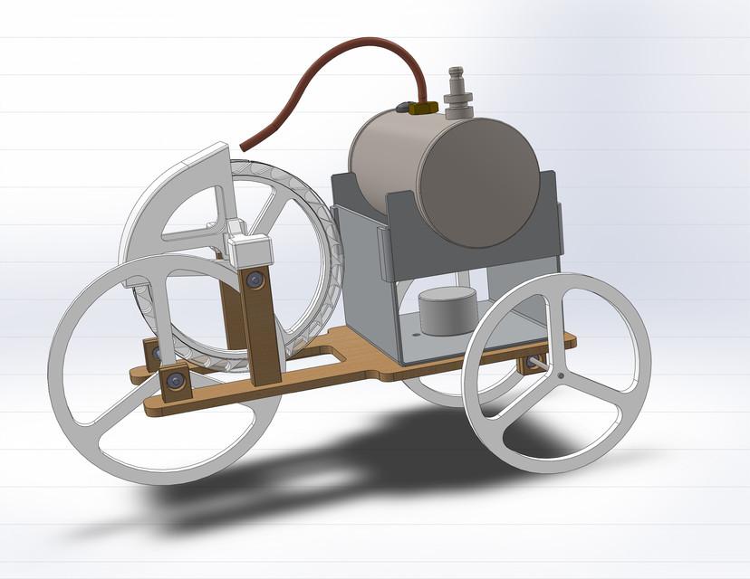 Micro Steam Car Solidworks 3d Cad Model Grabcad
