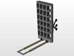 foldable trolley with rocker bogie mechanism
