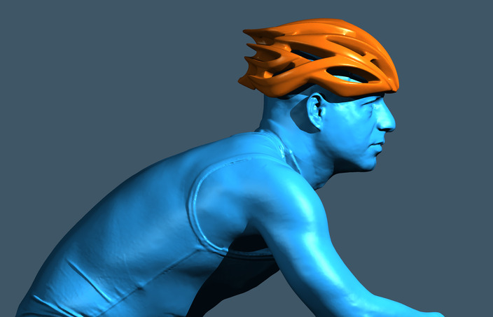 3D Scanned Bicycle Helmet