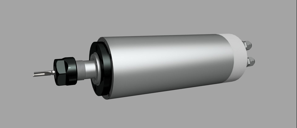 2.2kw Water Cooled CNC Spindle Motor ER20 | 3D CAD Model Library | GrabCAD