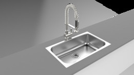 kitchen sink render