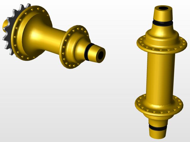 Profile Elite hubs | 3D CAD Model Library | GrabCAD