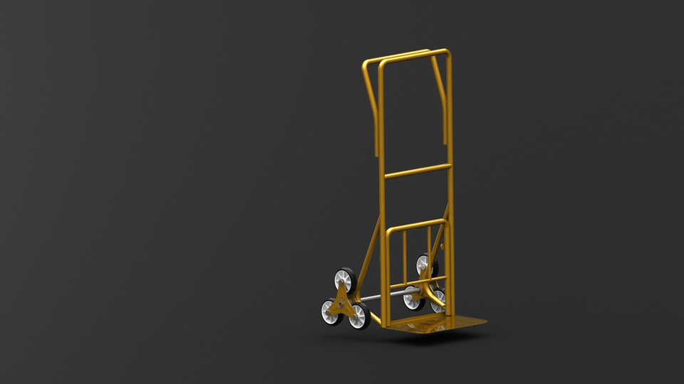 Stair climbing trolley | 3D CAD Model Library | GrabCAD