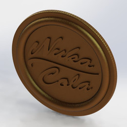 Nuka-Cola Coin Fallout 4 props ready for 3d printing