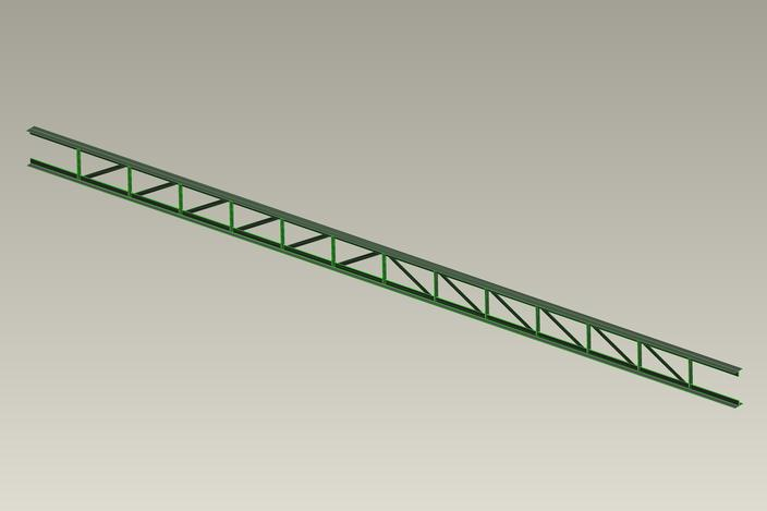 40 ft parallel truss pro engineer wildfire stl 3d cad for 40 ft metal trusses