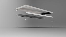 12 LED White Downlit Shelf