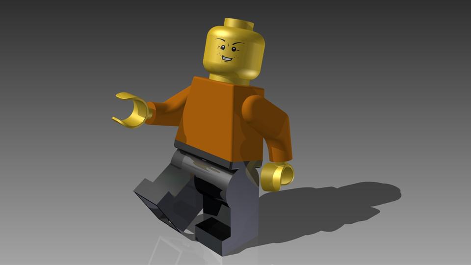 Lego Man | 3D CAD Model Library | GrabCAD