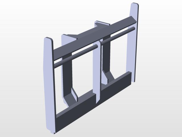 Forklift Frame (3) The End Of Frame Part | 3D CAD Model Library ...
