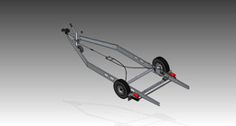 Caravan chassis with mover