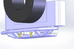 Rear Jeep Tube Bumper and Spare Tire Holder.